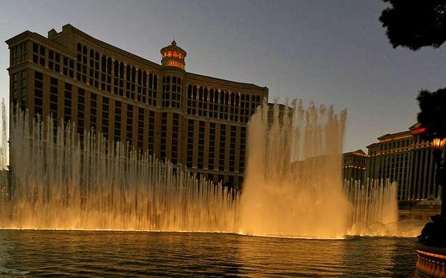 The Fountains of Bellagio. Las Vegas.