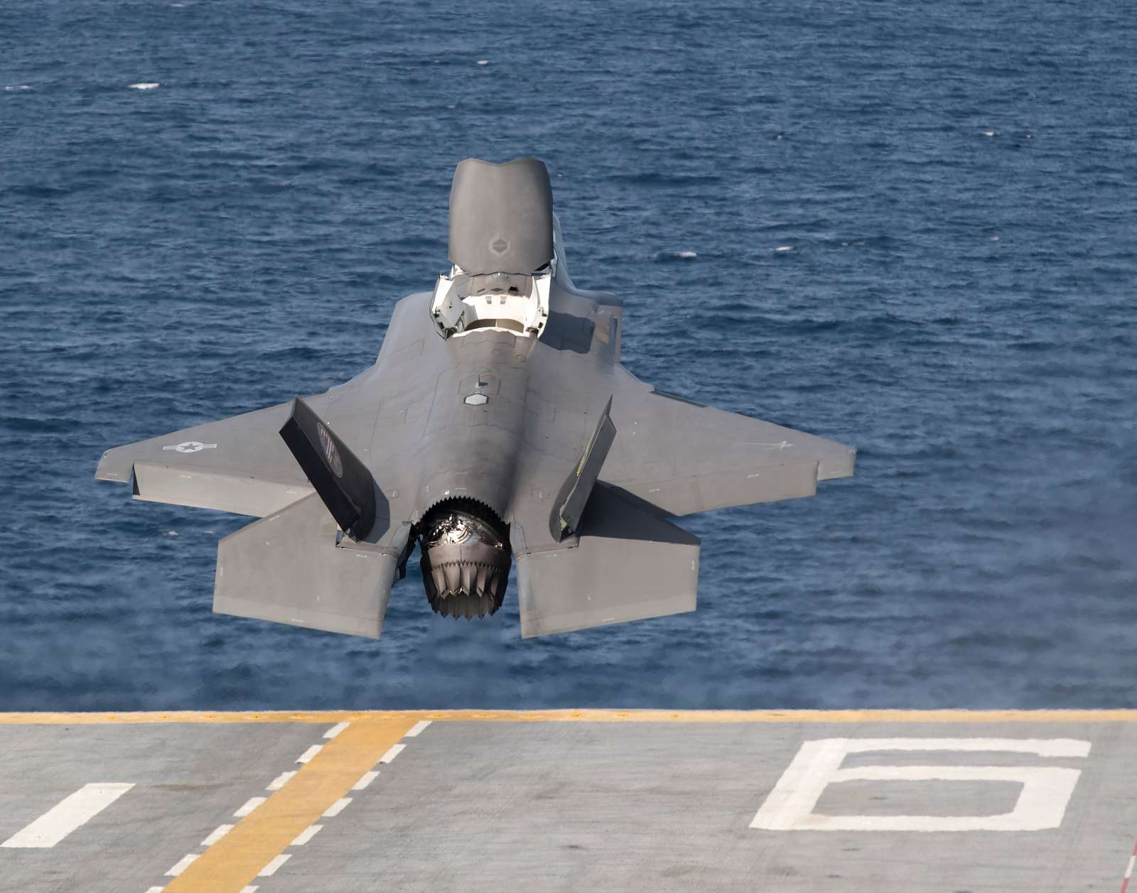 BF-1 Flt 608 (Sqd Ldr Andy Edgell/pilot) aboard USS America (LHA-6) on 29 October 2016 for STOVL DT-III. VMX-1 and VMFA-211 F-35Bs for OT testing aboard USS America (LHA-6).