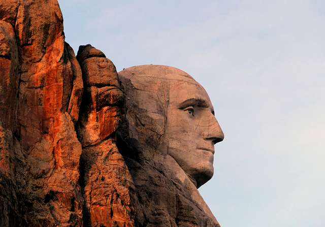 George Washington. Mt Rushmore.South Dakota.