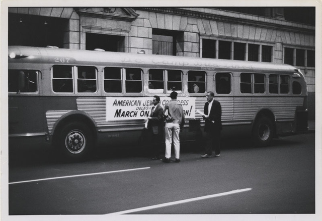 American Jewish Congress Chartered Bus, New York to Washington for the March on Washington, 1963
