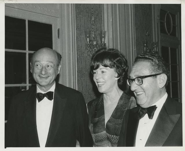 Ed Koch, Bess Myerson, and Henry Kissinger at Stephen S. Wise Award Dinner