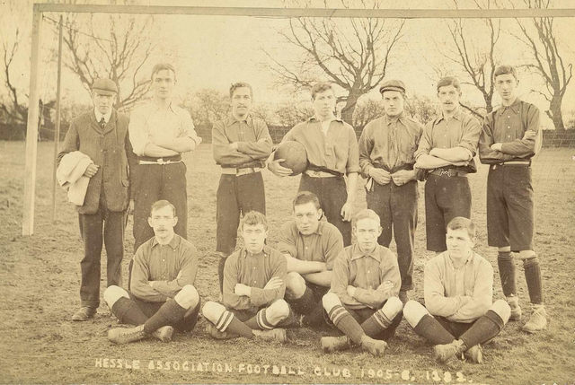 Hessle (East Yorkshire) Association Football team 1905-06 (archive ref DDOW-2-11)