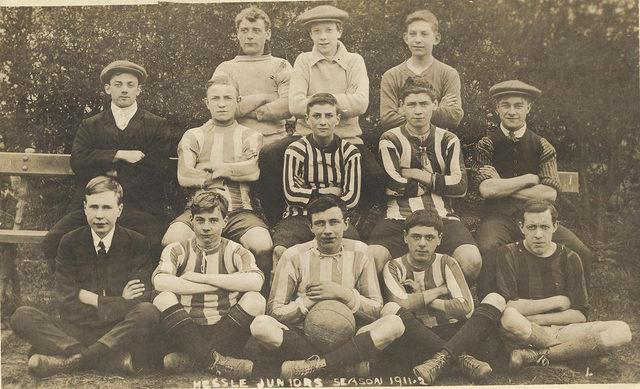Hessle Juniors (East Yorkshire) Football team 1911-12 (archive ref DDOW-2-11)