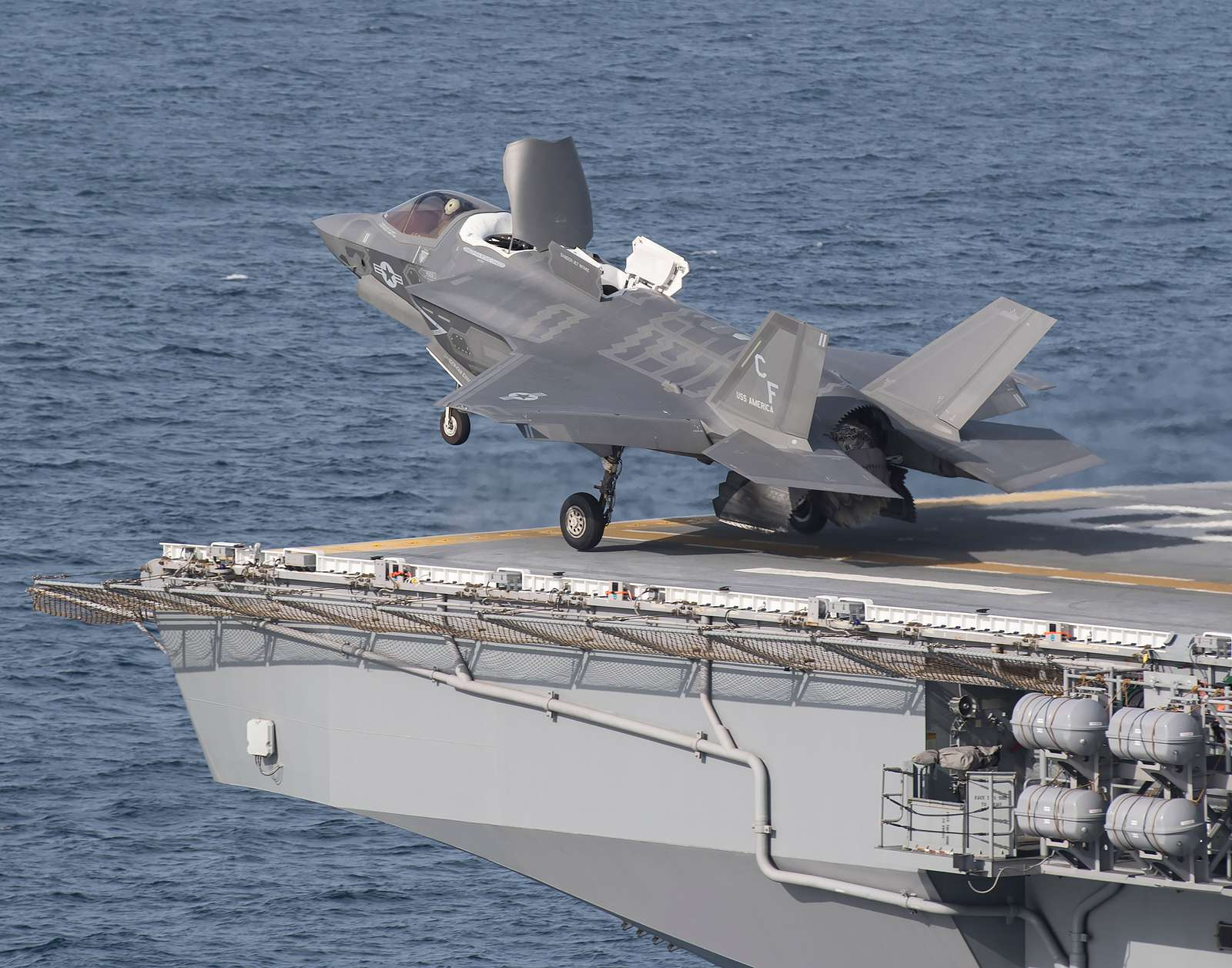 Seven F-35Bs are on board the USS America (LHA-6) beginning Oct. 28 until mid-November. Two of the jets are scheduled to begin the third shipboard phase of developmental test (DT-III) and five are scheduled to conduct operational testing.