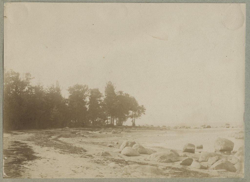 Rändkividega rannik / Coast with several smaller erratic boulders