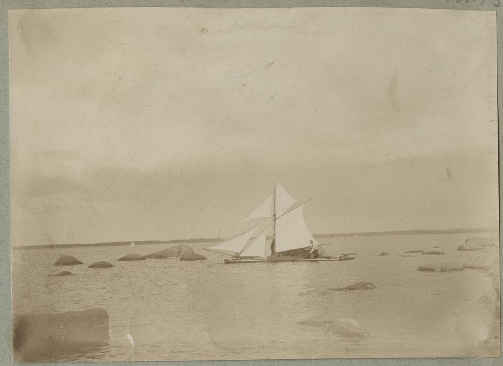 Täispurjes katamaraan / A catamaran in full sail