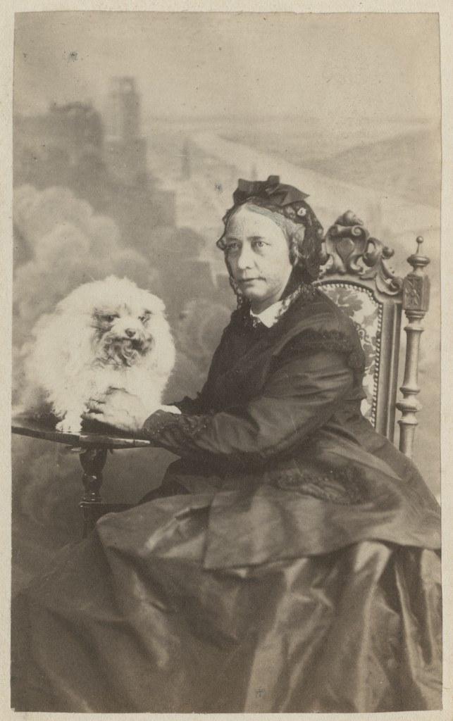 Vanem naine koeraga / Older Woman with Dog