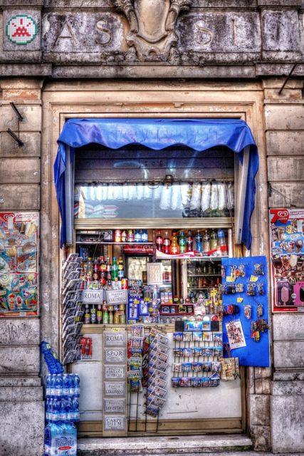 Street vendor, Rome