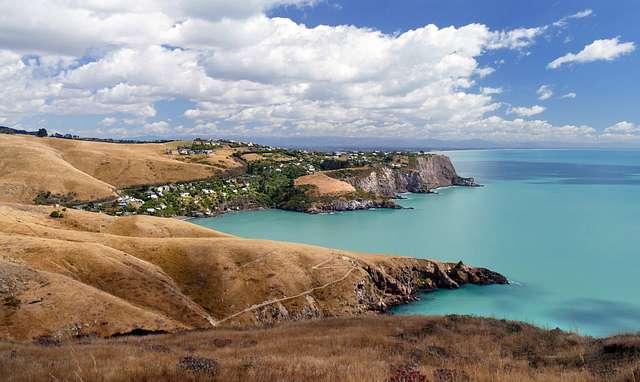 Banks Peninsula. New Zealand.
