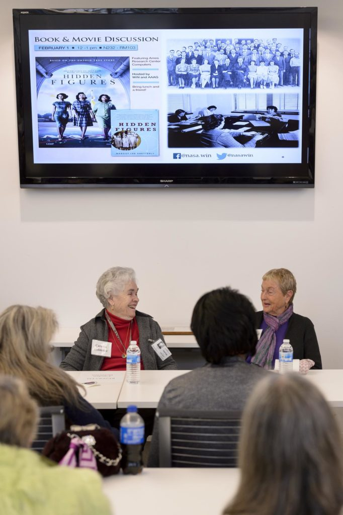 """Ames Women's Influence Network (WIN) Hidden Figures talk with """"Computers"""" Carolyn Hofstetter and Carol Mead co-sponsored by the AAAG"""