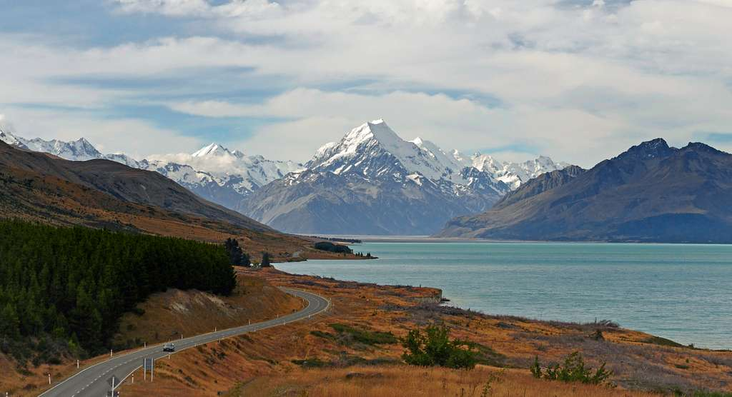 On the road to the Alps. NZ