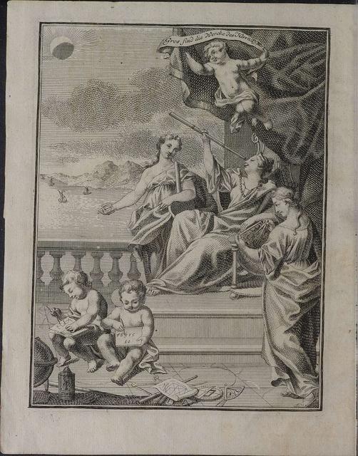 Astronomisches Handbuch by Johann Rost 1718 Frontispiece (HAB)
