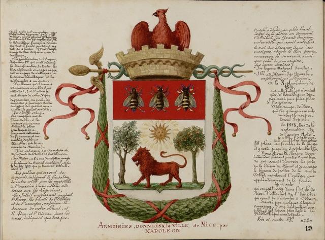 Armoiries, Donnees a la ville de Nice par Napoleon