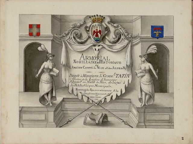 Armorial Nobillaire et Historique l'Ancien Comte de Nice et des Alpes