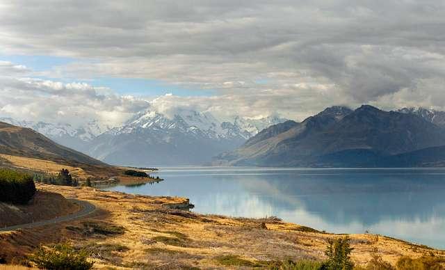 Lake Pukaki and Mt Cook NZ.