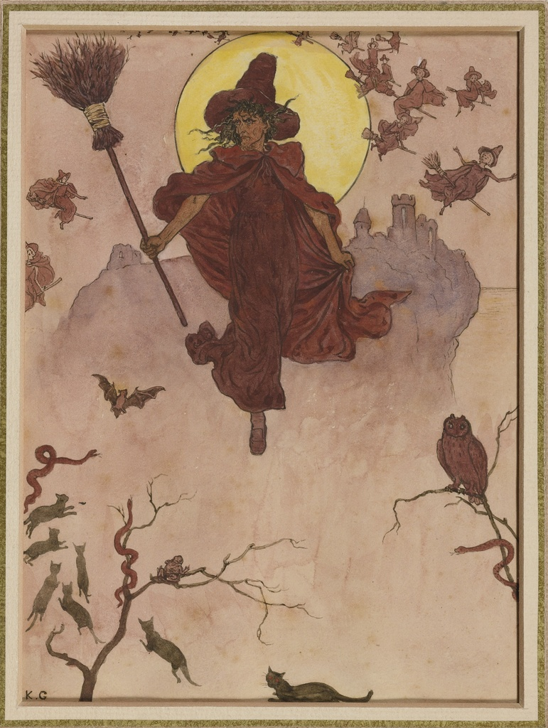 Witch 1878 by Kate Greenaway