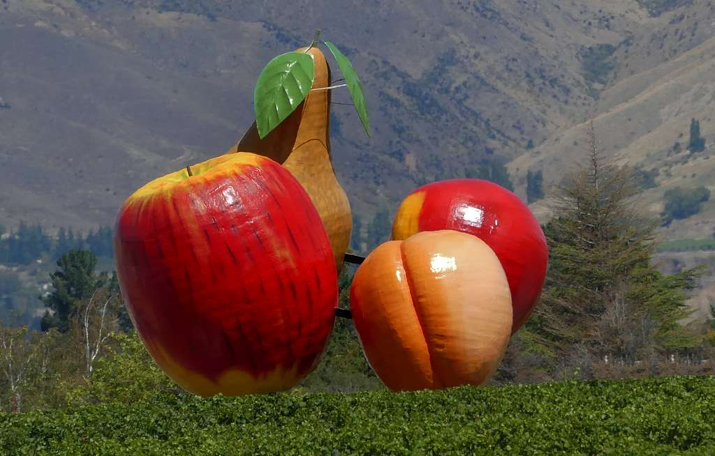 Giant Fruit Sculpture - Cromwell, New Zealand
