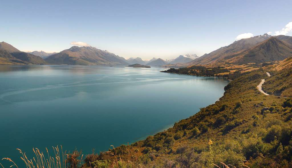 Lake Wakatipu. New Zealand.