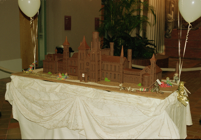 150th Anniversary Cake Shaped as the Smithsonian Institution Building