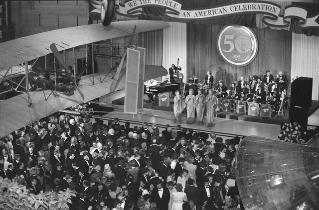 1985 Inaugural Ball for President Reagan in National Air and Space Museum