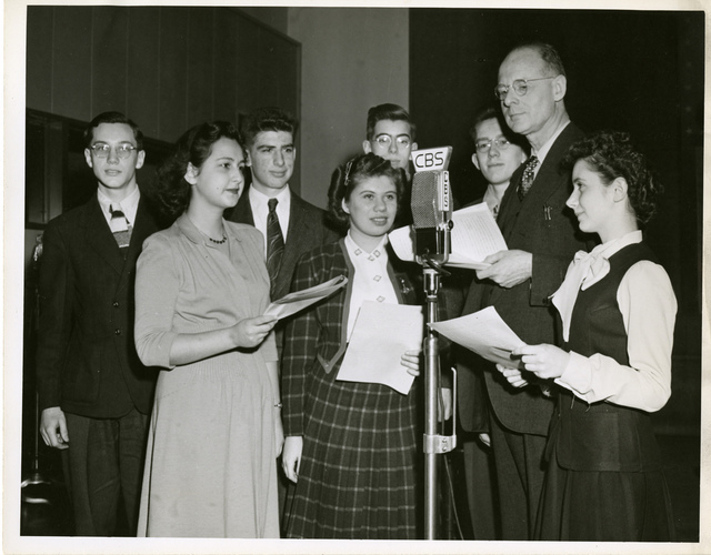 Frank Thone (1891-1949) interviewing Science Talent Search finalists, 1945