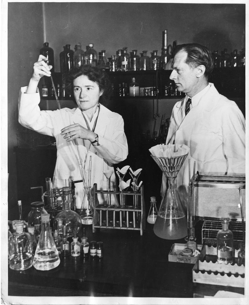 Gerty Theresa Radnitz Cori (1896-1957) and Carl Ferdinand Cori (1896-1984)