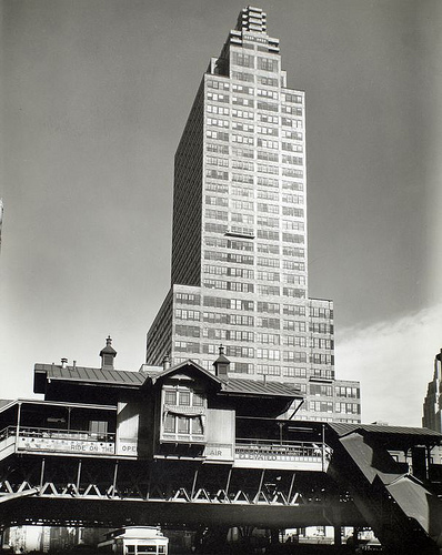 McGraw Hill Building, from 42nd Street and Ninth Avenue look...