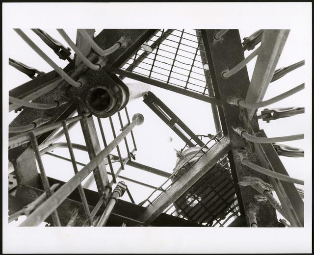 Top of the LORAN tower on Sand-Johnston Island, 1964.