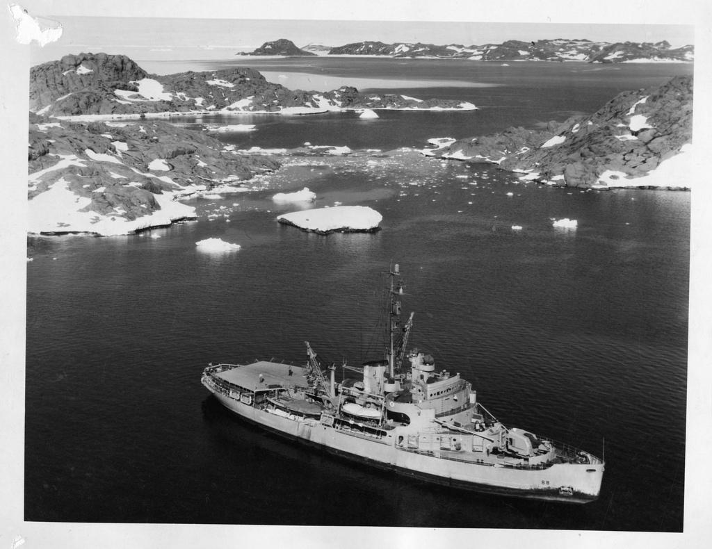 USS Burton Island (AG-88) in Antarctica