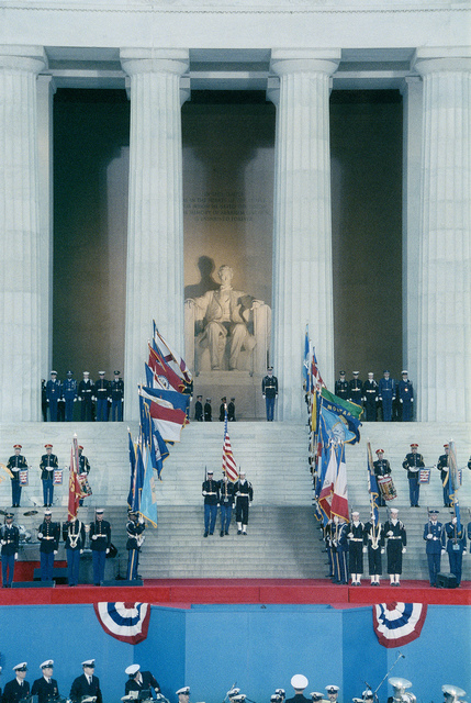 1989 Presidential Inauguration, George H. W. Bush, Opening Ceremonies, at Lincoln Memorial