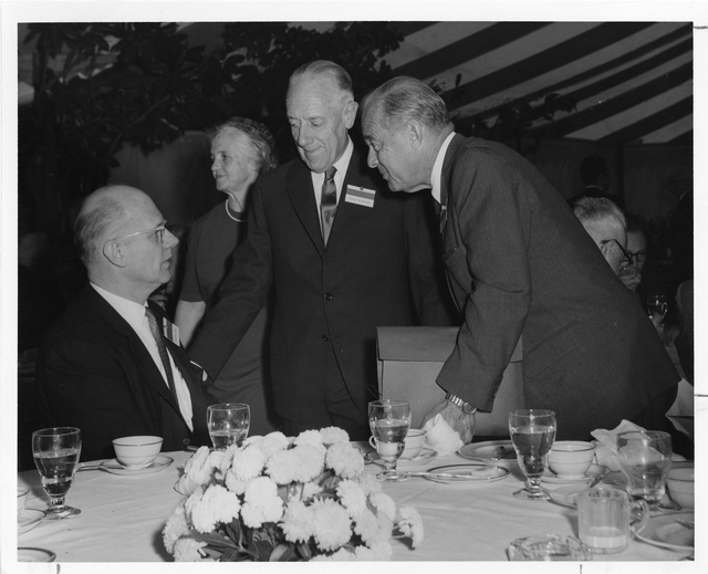 Frederick Seitz (1911-2008), Ava Helen Miller Pauling (1903-1981), Detlev Wulf Bronk (1897-1975), and Paul Weiss