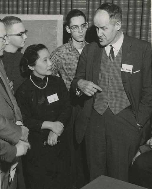 left to right: Chien-shiung Wu (1912-1997) and Dr. Brode