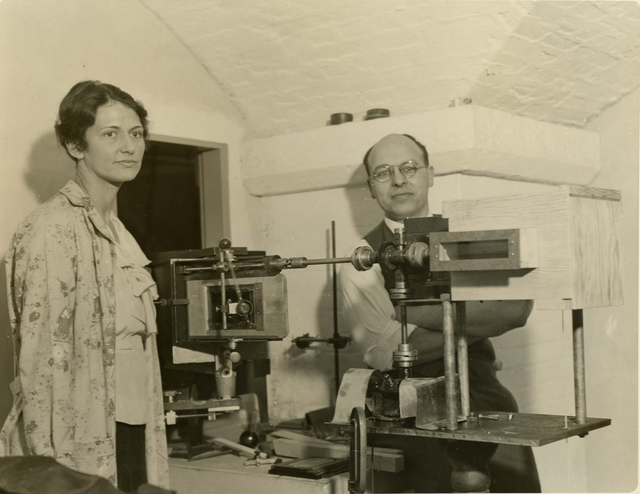 Left to right: Unidentified woman and Edward Dorris McAlister (b. 1901)