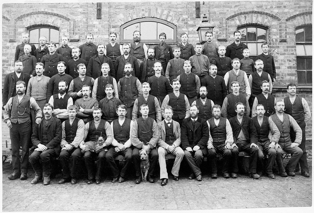 Stable staff  in Stockholm 1895