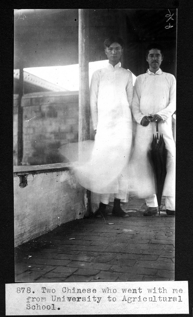 Two Chinese who accompanied A.S. Hitchcock from University of Nanjing to Agricultural School (China).