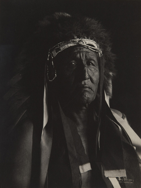 Untitled (Native American in buffalo headdress)