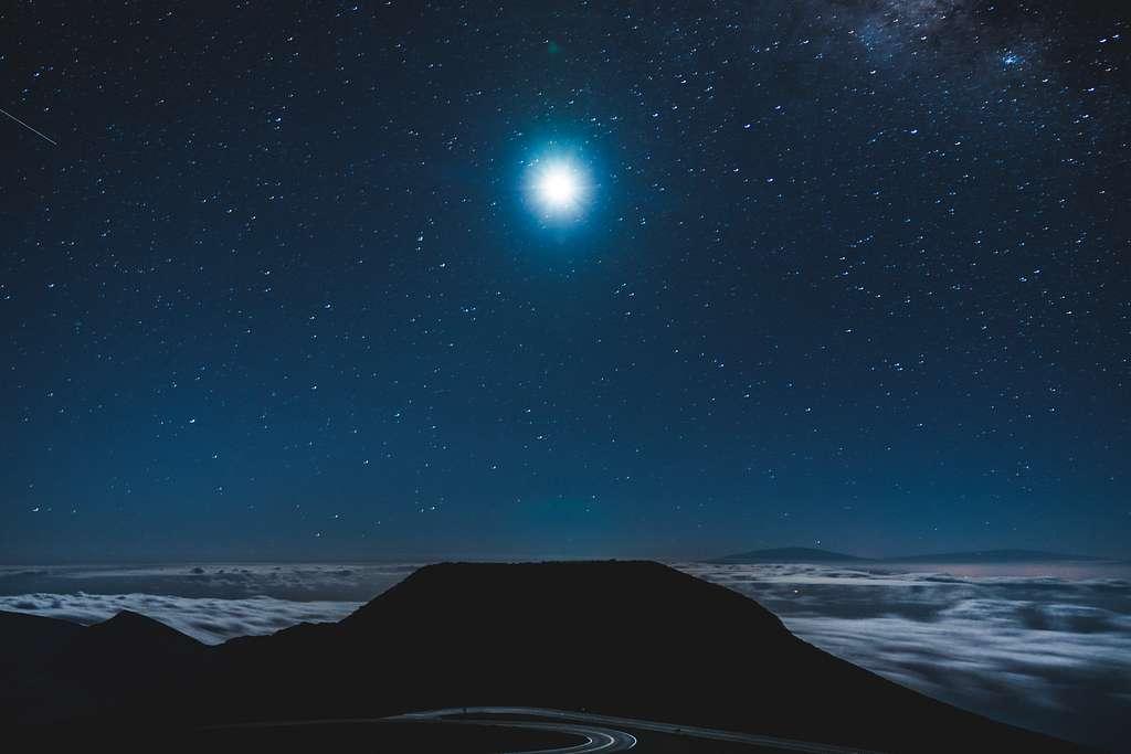 Moonlight at Haleakala Summit (Unsplash)