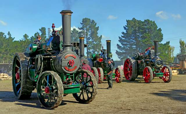 Traction engines.