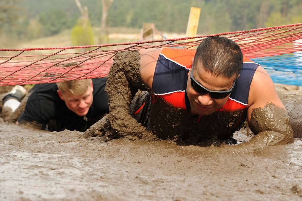 Runners participate in the annual Rugged Terrain Obstacle