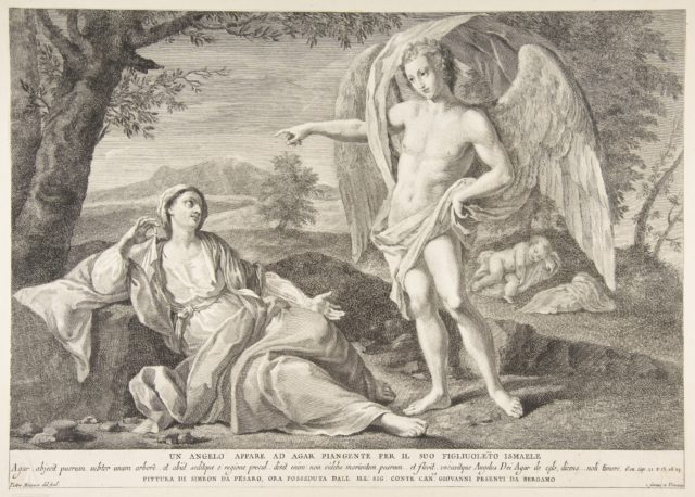 An angel appearing to Hagar