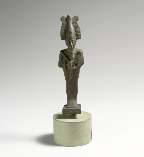 Bronze statuette of Osiris