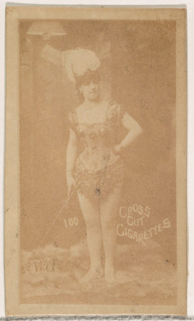 Card Number 100, Wilson, from the Actors and Actresses series (N145-1) issued by Duke Sons & Co. to promote Cross Cut Cigarettes