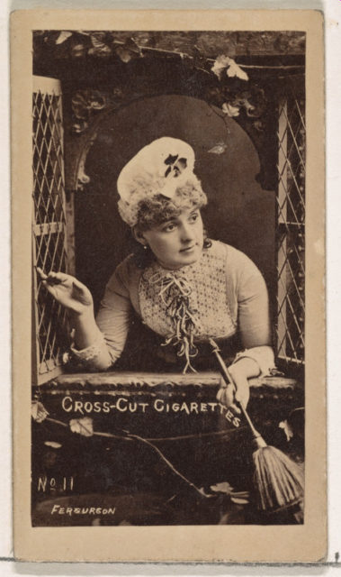 Card Number 11, Fergurson, from the Actors and Actresses series (N145-1) issued by Duke Sons & Co. to promote Cross Cut Cigarettes