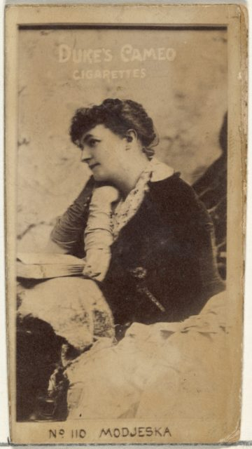 Card Number 110, Modjeska, from the Actors and Actresses series (N145-4) issued by Duke Sons & Co. to promote Cameo Cigarettes