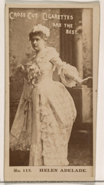 Card Number 113, Helen Adelade, from the Actors and Actresses series (N145-2) issued by Duke Sons & Co. to promote Cross Cut Cigarettes