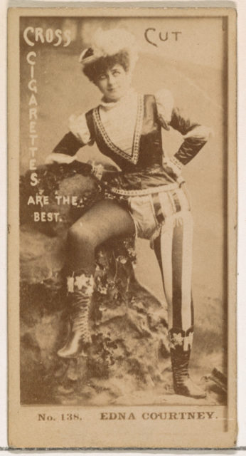 Card Number 138, Edna Courtney, from the Actors and Actresses series (N145-2) issued by Duke Sons & Co. to promote Cross Cut Cigarettes