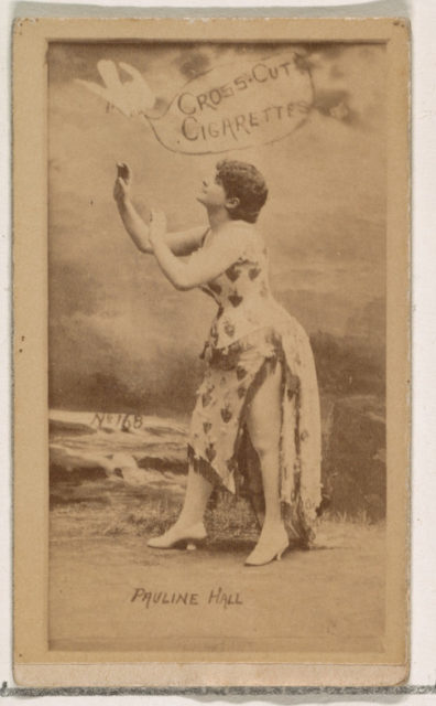 Card Number 168, Pauline Hall, from the Actors and Actresses series (N145-1) issued by Duke Sons & Co. to promote Cross Cut Cigarettes