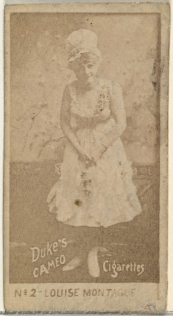 Card Number 2, Louise Montague, from the Actors and Actresses series (N145-4) issued by Duke Sons & Co. to promote Cameo Cigarettes
