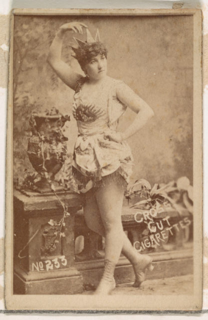 Card Number 233, Lillian Russell, from the Actors and Actresses series (N145-1) issued by Duke Sons & Co. to promote Cross Cut Cigarettes