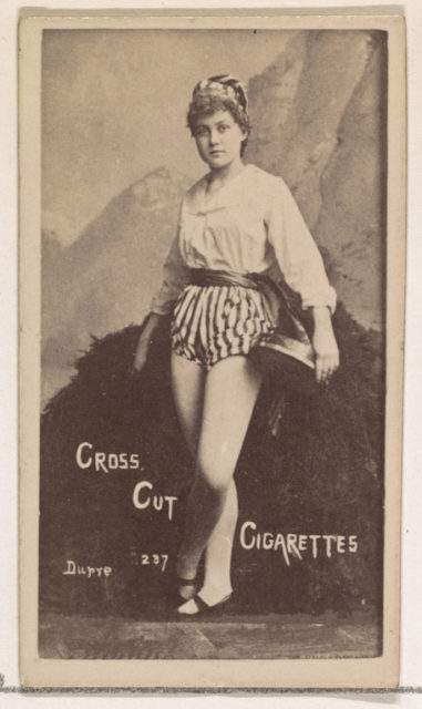 Card Number 237, Dupre, from the Actors and Actresses series (N145-1) issued by Duke Sons & Co. to promote Cross Cut Cigarettes